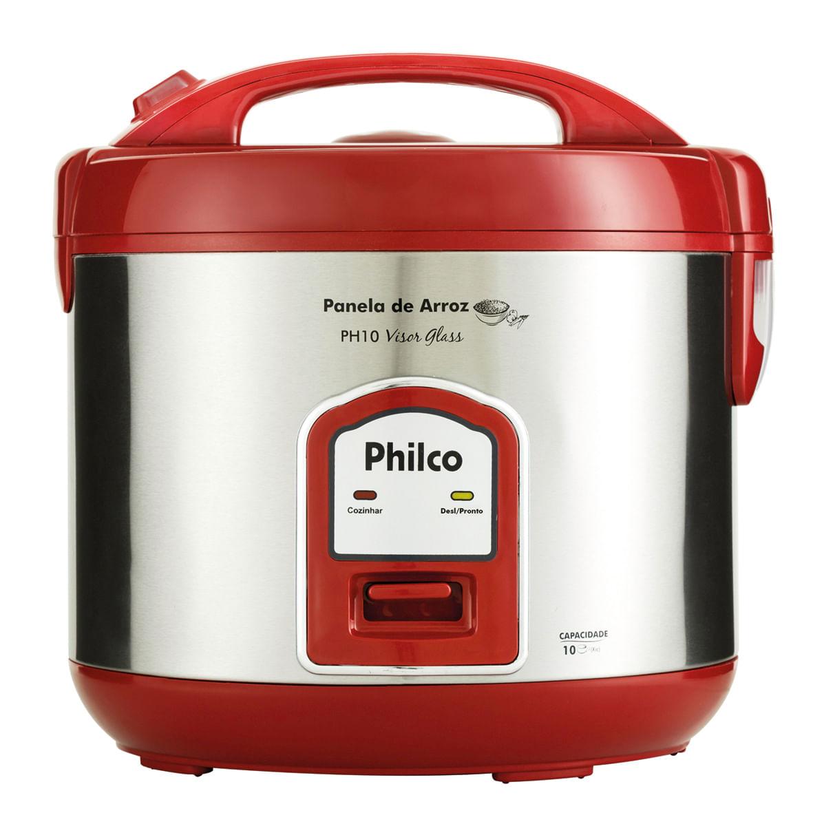e1415dc61 Panela de Arroz Philco PH10 Visor Glass Vermelha