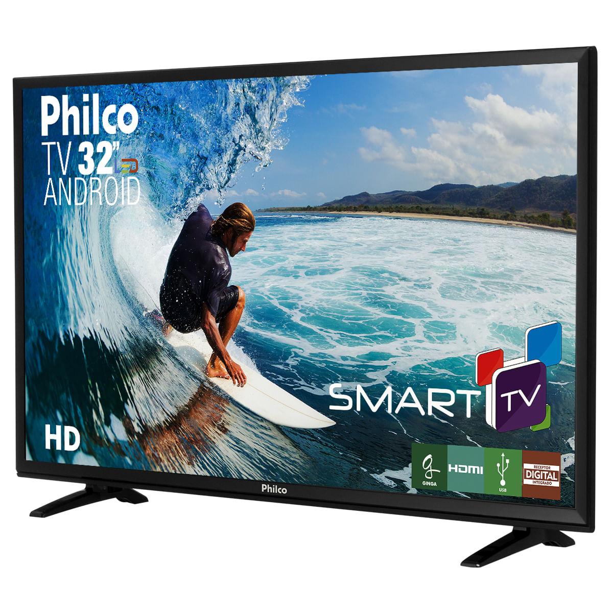 "9347d081da5d3 TV Philco 32"" PH32E20DSGWA Android - Bivolt"