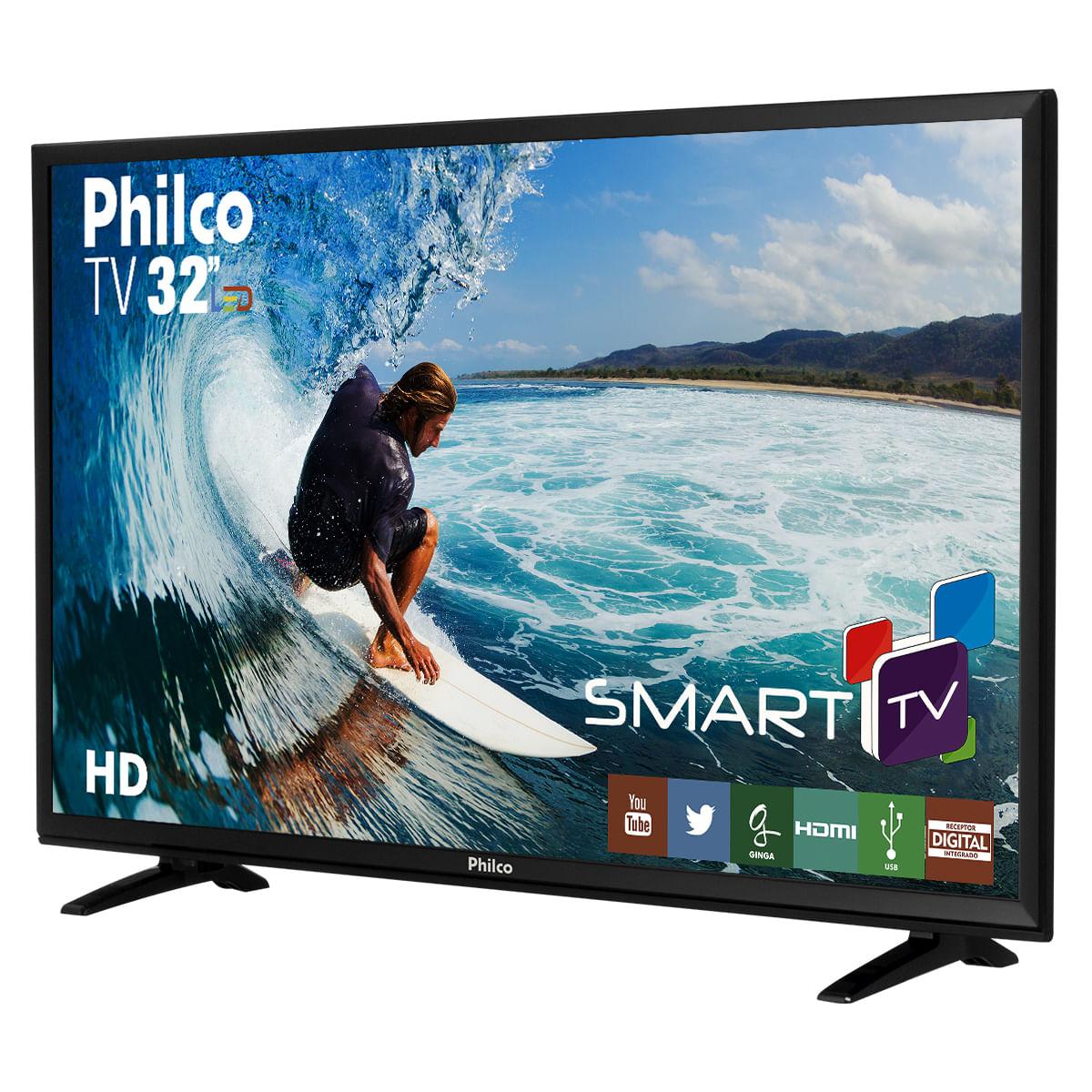 """cc12fab018c TV Philco Led 32""""PH32E31DSGW Smart - Bivolt"""