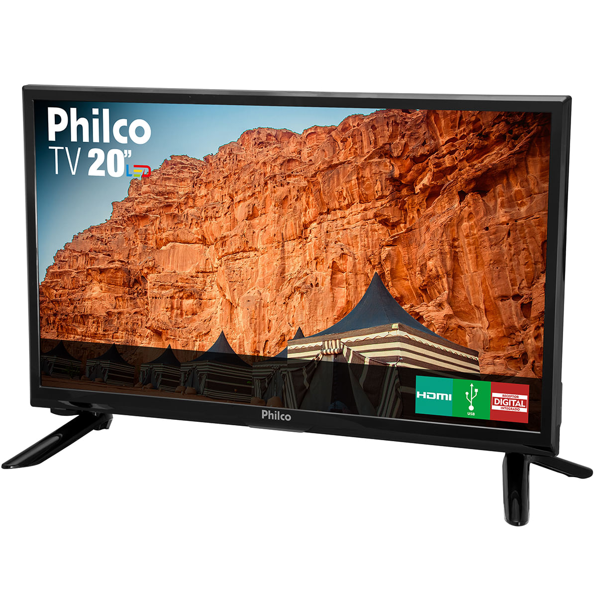 "e277eb426 TV Philco Led Hd 20"" PH20M91D - Bivolt"