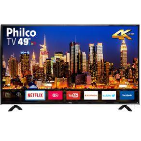 "Tv 49"" Led Philco 4k - Ultra Hd Smart - Ptv49f68dswn"