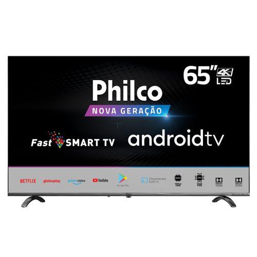 "Smart TV Philco 65"" PTV65Q20AGBLS 4K LED Android - Netflix Bivolt"