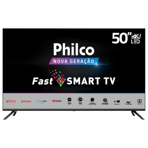 """Smart TV Philco 50"""" PTV50G70SBLSG 4K LED - Netflix Bivolt"""