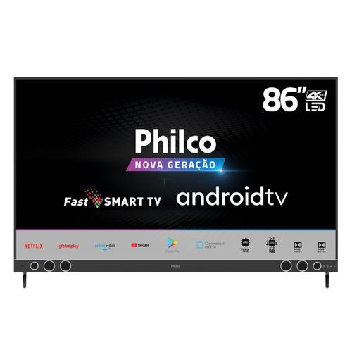 """Smart TV Philco 86"""" PTV86P50AGSG 4K SB LED Android - Netflix Bivolt"""