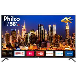 "Tv 58"" Led Philco 4k - Ultra Hd Smart - Ptv58f60sn"