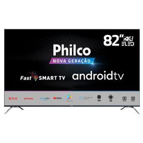 """Tv 82"""" Led Philco 4k - Ultra Hd Smart - Ptv82k90agib"""