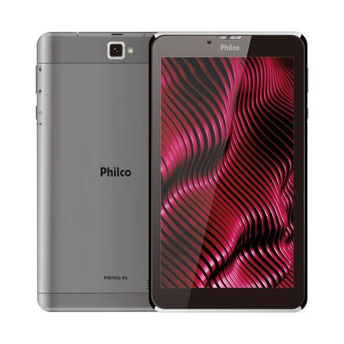 """Tablet Multi-toque 7"""" Philco PTB7SSG Quad Core Android PIE 9.0 16Gb Bivolt"""
