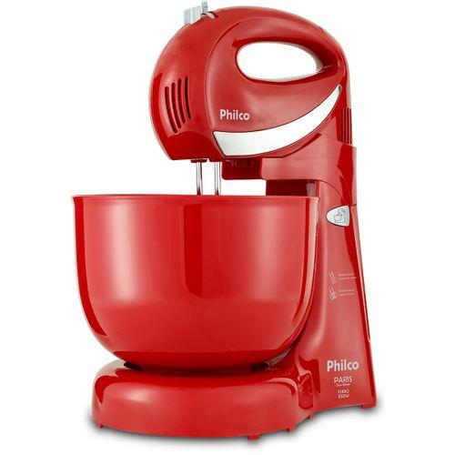 Batedeira Philco Paris Duo Mixer Turbo 350W Vermelha 127V