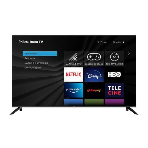 "Fast Smart TV Philco Roku 58"" PTV58G70RCBL 4K LED UHD Preta Bivolt"