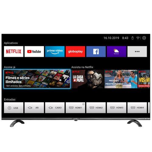 "Smart TV 55"" BTV55Q20N5SBL 4K D-LED Netflix Space Gray Bivolt"