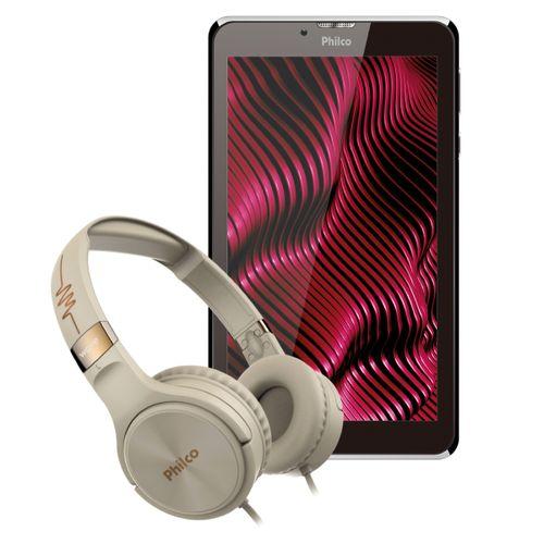 "Kit Philco Tablet Multi-toque 7"" PTB7SSG + Headphone PFO02G Bivolt"