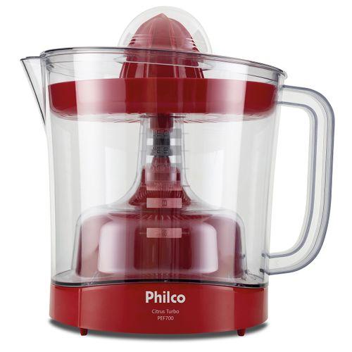 Espremedor de Frutas Philco PEF700V Vermelho 1,5L 70W 127V